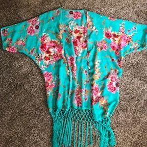 Floral beach cover up NEW WITHOUT TAGS
